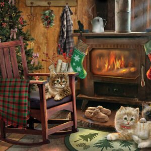 Kittens by the Stove 500 piece Puzzle - Cobble Hill