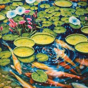 Koi Pond 1000 Piece Puzzle - Cobble Hill