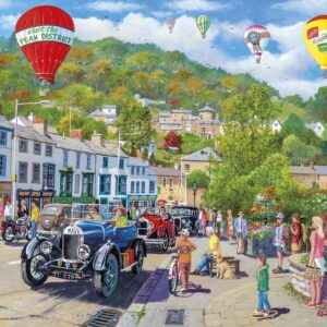 the perfect summer's day for a Classic Car rally in the tourist town of Matlock Bath