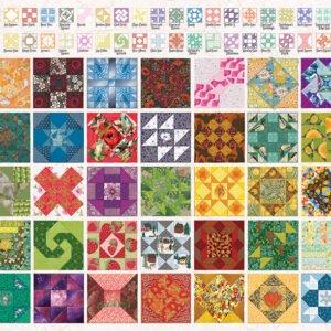 Quilt Blocks 2000 Piece Puzzle