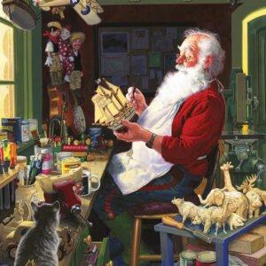 Santa's Workbench 500 Piece Puzzle