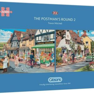 The Postman's Round 2 - 2 x 500 Piece Puzzle Set - Gibsons