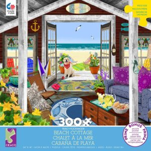 Tracy Flickinger - Beach Cottage 300 Piece Puzzle - Ceaco