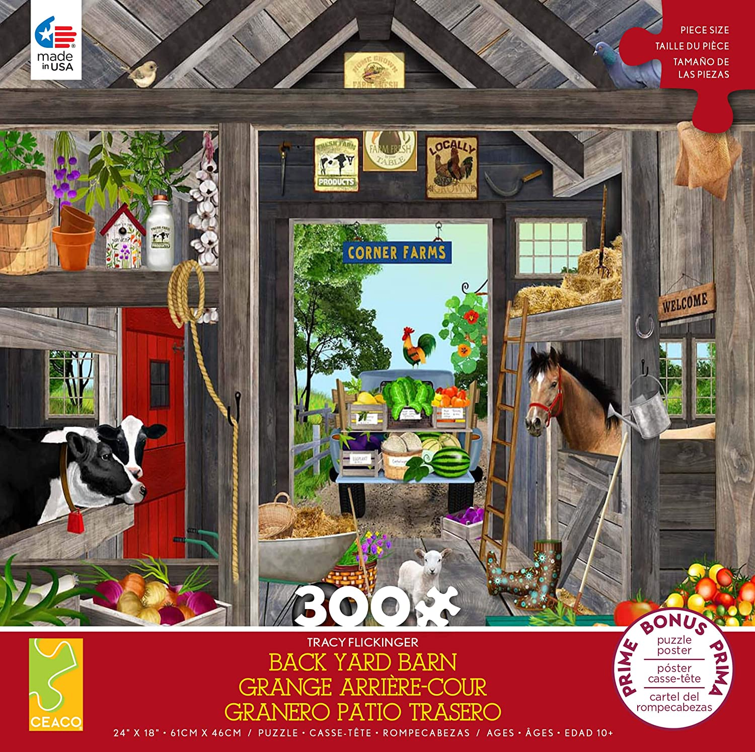 Tracy Flickinger - The Barn 300 Piece Puzzle - Ceaco