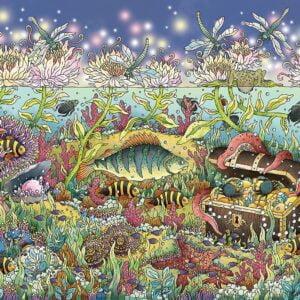 Underwater Kingdom at Dusk 1000 Piece Puzzle - Ravensburger