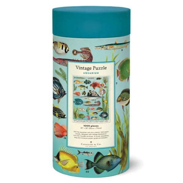 Vintage Puzzle - Aquarium 1000 Piece - Cavallini & Co
