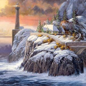 Winter Lighthouse 1000 Piece Puzzle