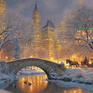 Winter in the Park 1000 Piece Puzzle - Cobble Hill