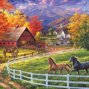 Horse Valley Farm 1000 Piece Puzzle - Sunsout