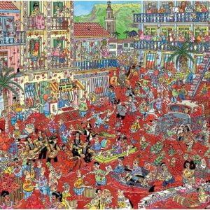 Jan Van Haasteran - La Tomatina 1000 Piece Puzzle - Jumbo