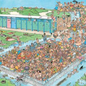 Jan Van Haasteran - Pool Pile Up 1000 Piece Puzzle - Jumbo