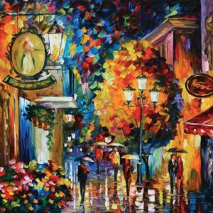 Symphony of Colour - Romantic Cafe in Old City 1000 Piece Puzzle - Holdson
