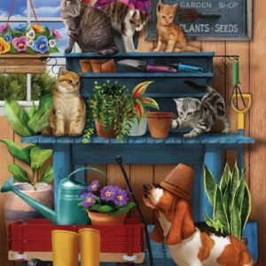 Trouble in the Potting Shed 1000 Piece Puzzle - Sunsout