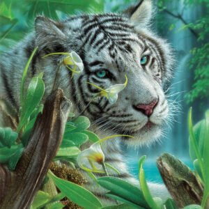 White Tiger of Eden 1000 Piece Puzzle - Sunsout