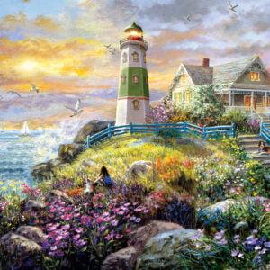 A Lighthouse Memory 1000+ Piece Puzzle - Sunsout