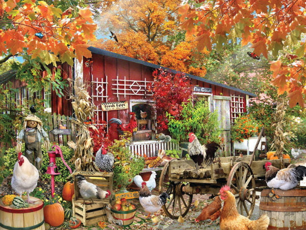 Barnyard Chickens 500 Piece Puzzle - Sunsout