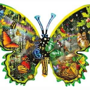 Butterfly Migration 1000 Piece Shaped Puzzle - Sunsout