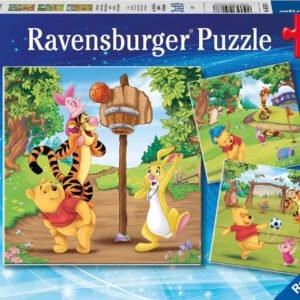 Disney Winnie the Pooh Sports Day 3 x 49 Piece Puzzle - Ravensburger