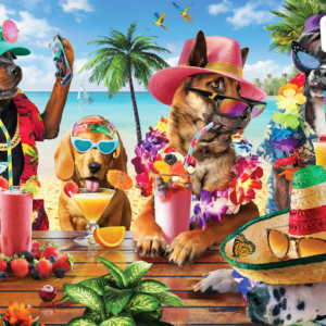 Dogs Drinking Smoothies 1000 Piece Puzzle - Anatolian