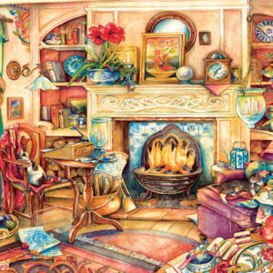 Fireside Embroidery 1000+ Piece Puzzle - Sunsout