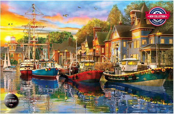 Harbour Lights 1500 Piece Puzzle - Anatolian