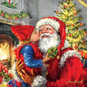 Kissing Santa 500 Piece Puzzle - Sunsout