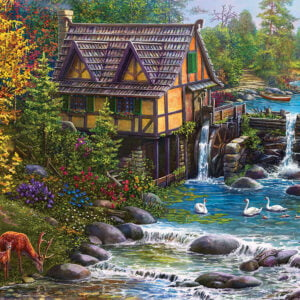 Mill by the Stream 1000 Piece Puzzle - Sunsout