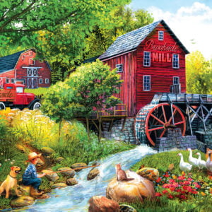 Playing Hookey at the Mill 1000 Piece Puzzle - Sunsout