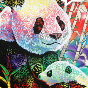 Rainbow Panda 1000 Piece Puzzle - Anatolian