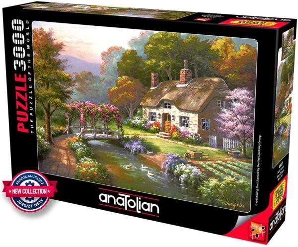 Rose Cottage 3000 Piece Puzzle - Anatolian