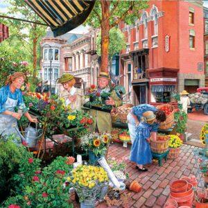 Sidewalk Flower Sale 300 Large Piece Puzzle - Sunsout