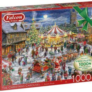 The Christmas Carousel 2 x 1000 Piece Puzzle - Falcon de luxe