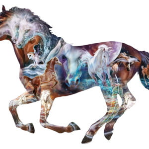 The mystery of the Horse 800 Piece Shaped Puzzle - Sunsout