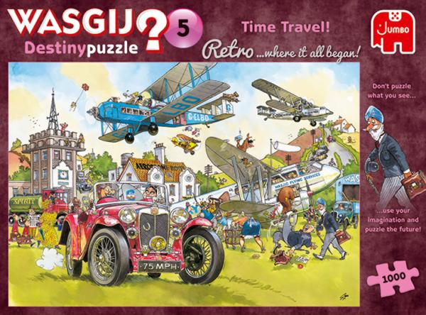 Wasgij Destiny Retro 5 - Time Travel 1000 Piece Puzzle - Jumbo