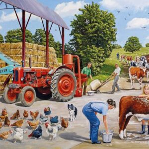 A Busy Farmyard 500 Piece Puzzle - Gibsons