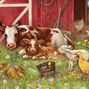 Barnyard Babies 350 Piece Family Puzzle - Cobble Hill