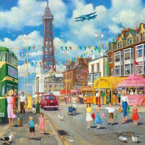 Blackpool Promenade 500 Piece Puzzle - Gibsons