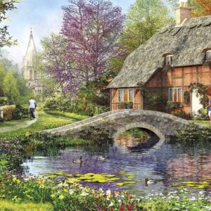 Cottage by the Brook 636 Piece Puzzle - Galison