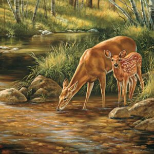 Deer Family 350 Piece Family Puzzle - Cobble Hill