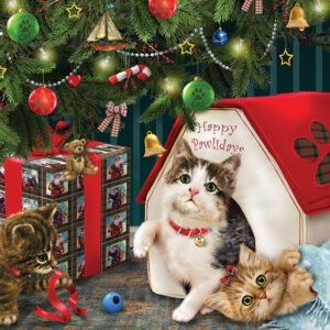 Happy Pawlidays 350 Piece Family Puzzle - Cobble HIll