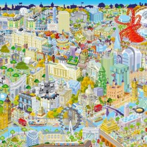 London From Above 500 Piece Puzzle - Gibsons