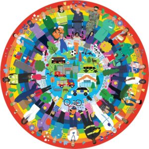 Rainbow Heroes 500 Piece Circular Puzzle - Gibsons