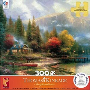 Thomas Kinkade End of a Perfect Day III 300 Large Piece Puzzle - Ceaco