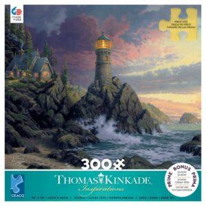 Thomas Kinkade Rock of Salvation 300 Large Piece Puzzle - Ceaco