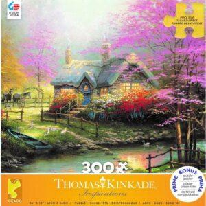 Thomas Kinkade - Stepping Stone Cottage 300 Large Piece Puzzle - Ceaco